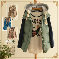 Fashion with a hood thickening wadded jacket vest outerwear 2013 autumn and winter women vest female