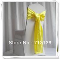 free shipping   satin chair sash chair bow for weddings,chair bow