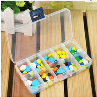 Tablet Pill Boxes Holder  Medicine Storage Organizer Container Case 10grids    NP109