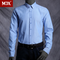 MJX Men's Clothing Long-Sleeve Shirt for Bussiness Men Slim Breathable Oxford Silk Cloth Shirt Easy Care