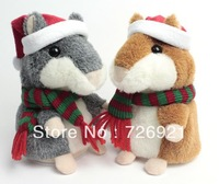 10pcs Free Shipping Original Russian Talking Hamster Plush Animal Toys Christmas Gift Recording Doll  Baby Toy 15cm