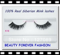 2013  winter 3pair/lot new  mink fur false eyelashes style 100% real siberian mink lashes k18