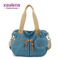 Fresh small messenger bag canvas bag handbag women's handbag bag student bag