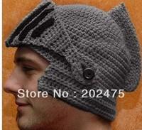 new women& men Handmade knitted hat knitted hat knight cap helmet knitted hat wool mask cap,roman hat beanie