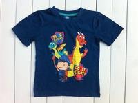 free shipping children boy kids boys clothing Mike Knight short sleeve t shirt top tee summer top 100% cotton shirts tops blue