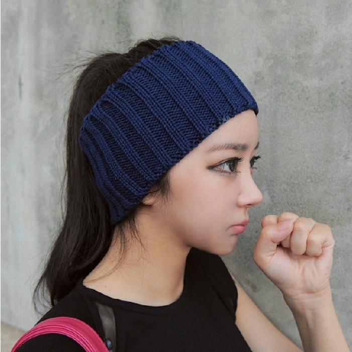 New 2013 European Vintage fashion casual women pretty knit caps wide Yoga hair band snood Sport headbands free shipping(China (Mainland))