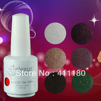 Free Shipping 10Pcs/lot 15ml 2014 New Gelexus Soak Off UV Nail Gel Polish 337 Fashion Colors