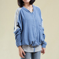 2013 autumn women's 100% cotton brief loose plus size batwing sleeve t-shirt female long-sleeve