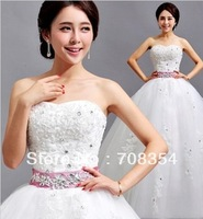 2014 New Arrival Simple Elegant Noble Lace Embroidery Sweetheart Princess Wedding Dress