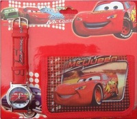 Wallet Packaging Watches, Cars Cartoon Watches