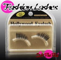 2013 Fashion Style Taiwan Hand Made Black Thick Half 1/2 Parts False Eye Eyelashes Fake Lashes Nude Makeup Tools With Case