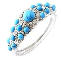 FREE SHIPPING NEW FASHION TURQUOISE BANGLES NATURAL STONE BANGLES