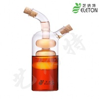 Glass oil and vinegar bottle candied fruit oil and vinegar glass pot double oil bottle