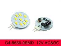 AC DC G4 LED 9SMD 5630 White/Warm 3W 12V Cabinet RV Light Bulb Lamp Super Bright