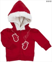 OshKosh B'Gosh Fur Trim Hoodie - Mittens - Bandana Red 4T fashion casual outerwear cardigan warm winter autumn fur inside