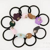 fashion  girls hair accessories  with rabbit mushroom  decoration elastic hair ties hairband wholesale  50pcs/lot free shipping
