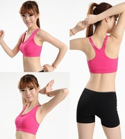 free shipping High-strength shock damping professional sports underwear vest without rims yoga jogging bra female quick-drying