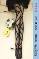 Spring and autumn thin decorative pattern stockings bars personalized jacquard pantyhose  Stocking
