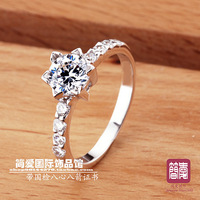 Christmas gift wedding gift Nscd jewelry ring Women ring wedding ring hearts and arrows belt certificate dr0629