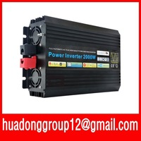 NEW 24v DC to AC 220v AC 2000W Mobile Car Power Inverter pure sine wave  inverter  Free shipping