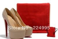 2012 wedding shoes beige high heel pump red bottom heels