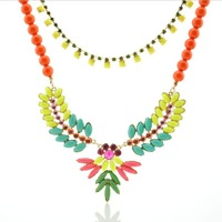 2013 new arrival beads new candy color sweater jewelry clavicle necklace 912