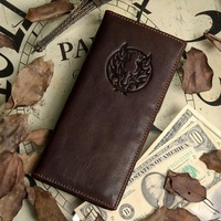 2013 new 100% genuine leather man's wallet vintage dragon style head cowhide long-section man purse free shipping