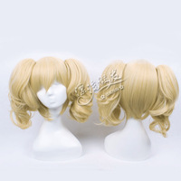 HOT!!GOOD QUALITY! Cosplay wig v vocaloid mirror rin furnace yellow double horsetail