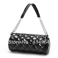 2013 new women's handbag candy color plaid chain shoulder bag handbag women messenger bag free shipping