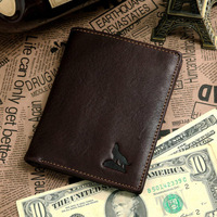 2013 new retro 100% genuine leather men's wallet with removable card holder head cowhide vintage pattern purse free shipping