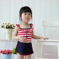 New 2013 Summer baby girl Striped swimwear Three pieces/set baby swimsuits free shipping