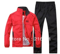 T90 Men Cotton Leisure Sports Suit Hoodie Men's long-sleeved 100% cotton spring and autumn sports jogging suit set