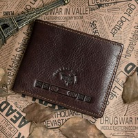 2013 new vintage pattern 100% genuine leather man's wallet big capacity head cowhide man card holder  free shipping
