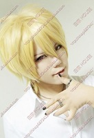 Free shipping! Milk gold fluffy short hair wig cos
