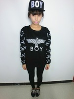 Free Shipping Pyrex vision 23 HARAJUKU punk boy london eagle pattern loose pullover sweatshirt female