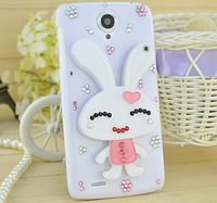 Lovely rabbit for lenovo S820/A850/A590/A630/S720/S890 mobile phone ornaments shell mirror