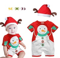 high -quality embroidered explosion models Romper Christmas Set cartoons jumpsuit climbing