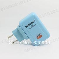 100% GUARANTEE New 10X YOOPOO Four 4 USB Power Adapter Charger EU for iPod Shuffle Mobile 5V 2A F Blue