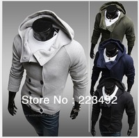 Free shipping,new winter fashion casual men's hooded sweater/Slim Cardigan sweater coat/cotton cultivation Sweaters Wholesale