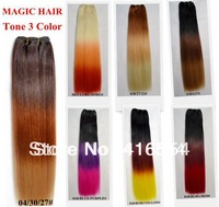 NEW Hair extension tone 3 color hair weft  heat resistant synthetic hair 3pcs/lot free shipping
