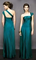 2014 Fashion Caught One Shoulder Zipper And Chiffon PROM Dress Free Shipping