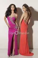 2014 Fashion Catch Decals Beaded Strap split Zipper And Chiffon PROM Dress Can Wholesale Free Shipping