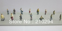 100pcs Painted Model Passenger delicate People Figures Scale 1:150 different sytle model fashion people hot selling styles