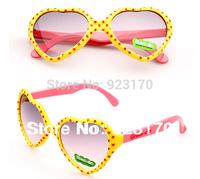 2014 Free Shipping Love UV400 Fashion Anti-uv Decoration Children's Glasses