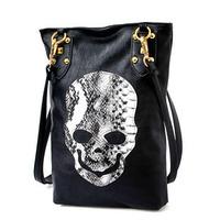 hot-selling 2013  hippie serpentine pattern skull bag rivets female cross-body bags