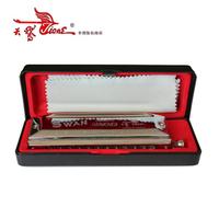 Free shipping Sw1248 chromatic harmonica c 12 48 harmonica bright silver bargeboard