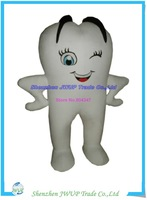 High quality White Teeth tooth mascot costume size adult costume parties free shipping