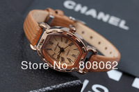 Hot sale! QUARTZ antique leather watchband  women watches wrist watches with high quality  free shipping!!