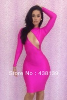 Free shipping 2Colors 3 Sizes Dresses New fashion 2013 bandage dress Hollow Out Backless bod ycon dress sexy women dressesQW1335