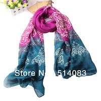 New design Fashion Women ScarfLong Voile hijab muslim scarf tribal aztec Shawl plated flowers 6 pcs scarves